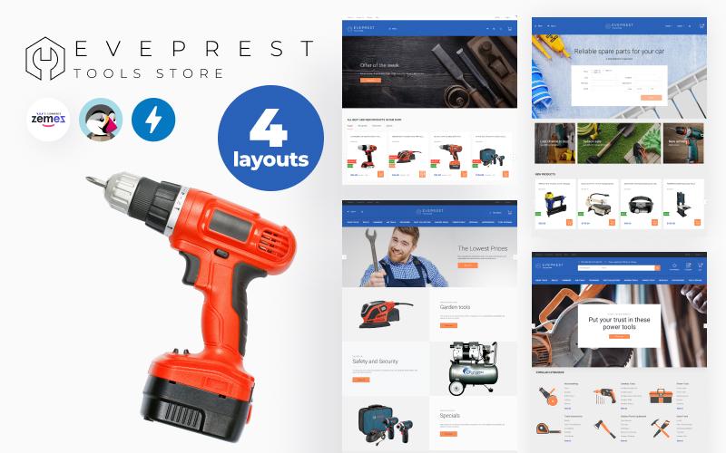 "Modello PrestaShop Responsive #74195 ""Eveprest Tools 1.7 - Tools Store"""