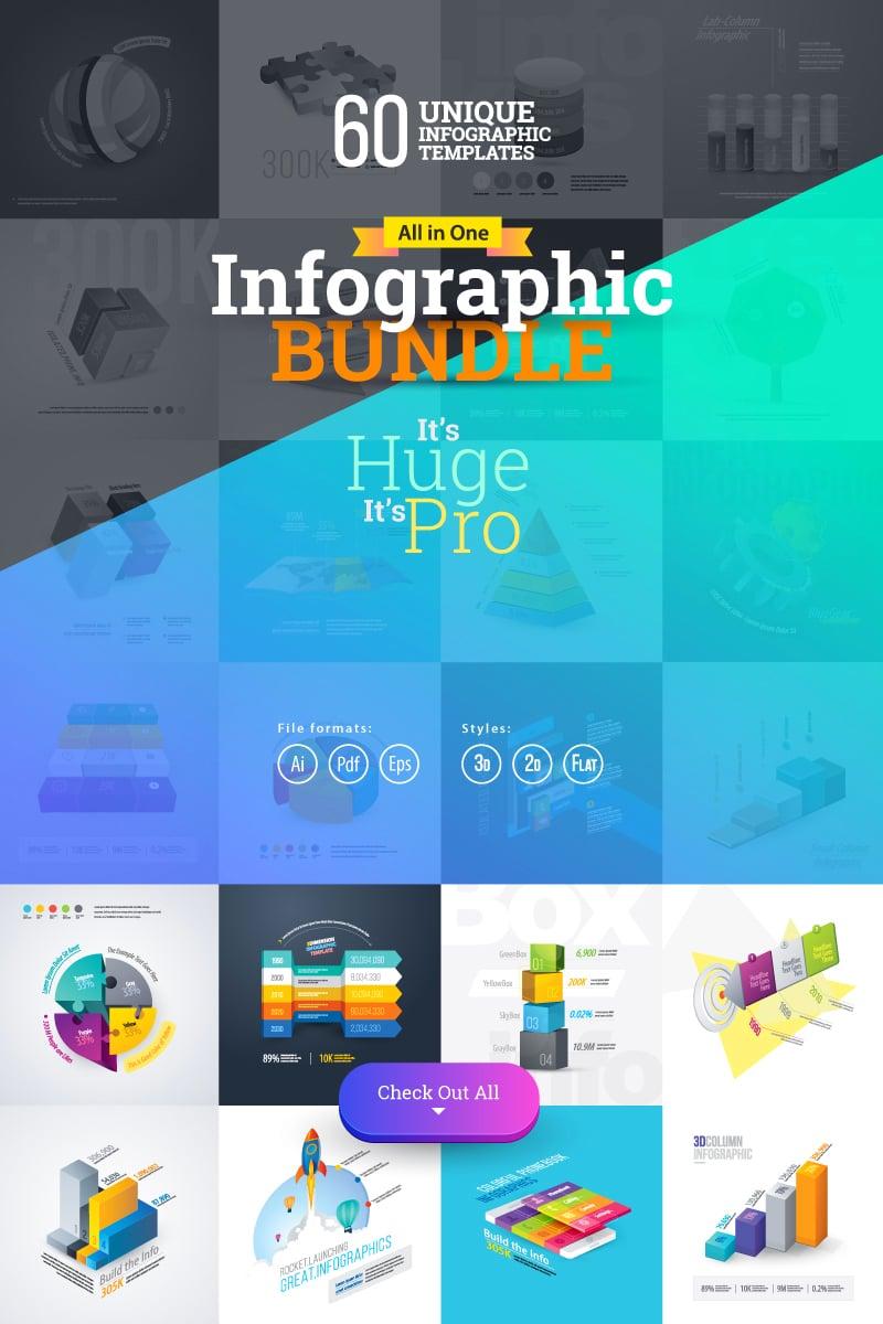 """""""Most Use Essential Infographic Mega"""" Éléments infographiques  #74162"""