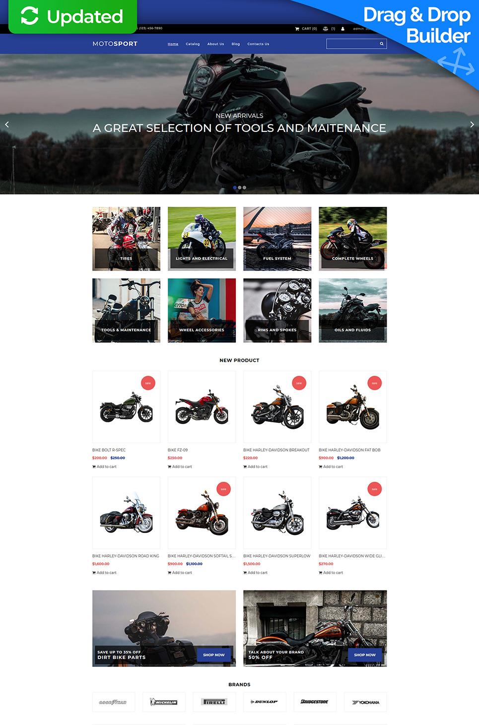 motosport motocms ecommerce template 74114