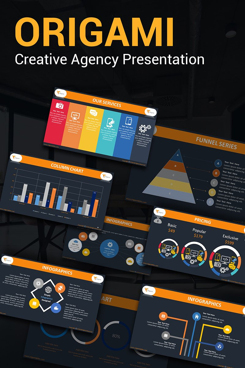 Origami Creative Agency PPT Slides PowerPoint Template