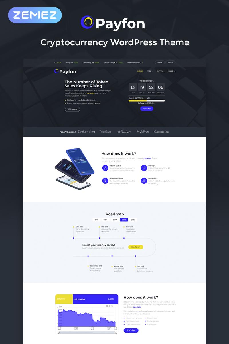 """Payfone - ICO Elementor"" Responsive WordPress thema №74165"
