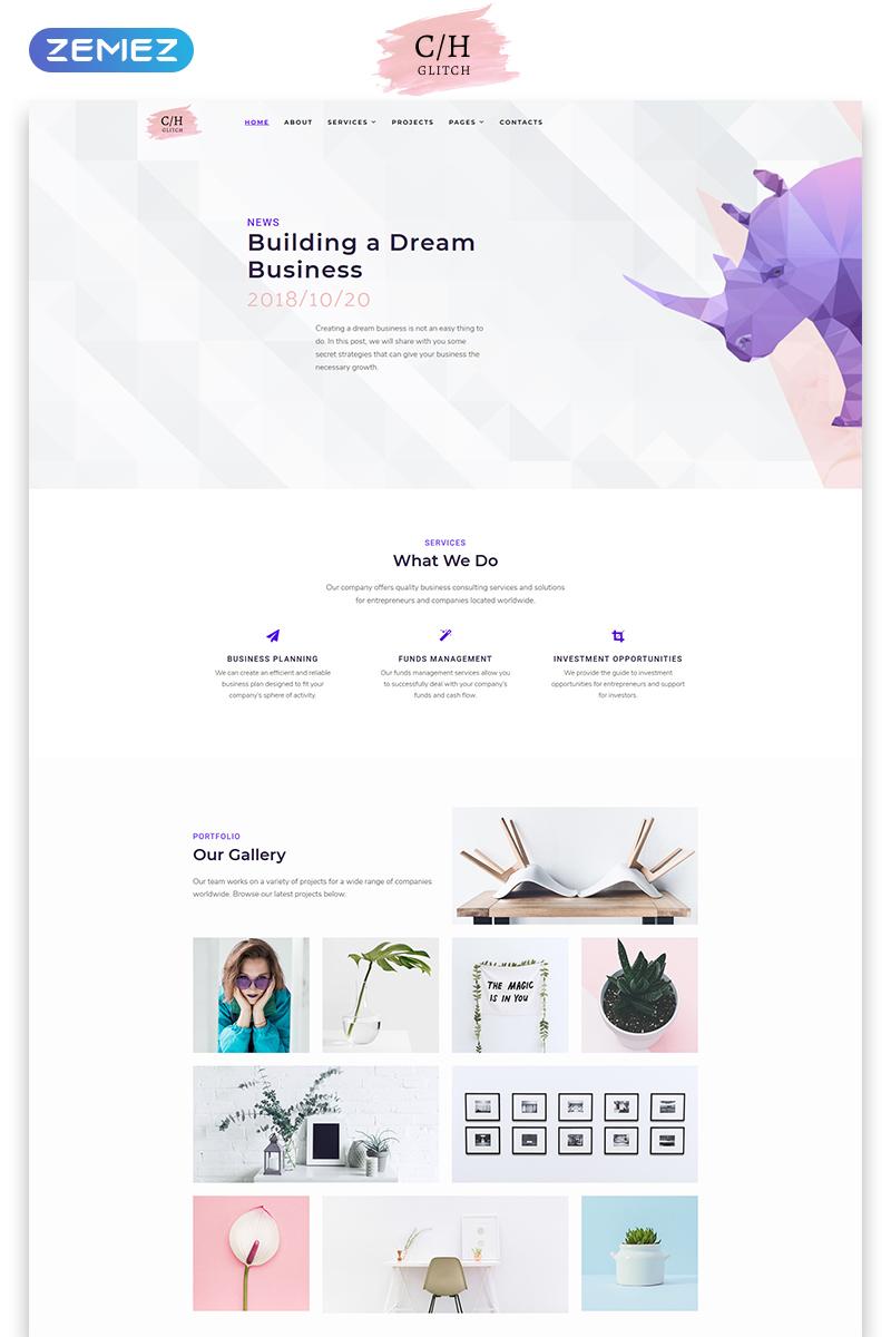 """Plantilla Web """"C/H Glitch - Business Multipage HTML5"""" #74153"""