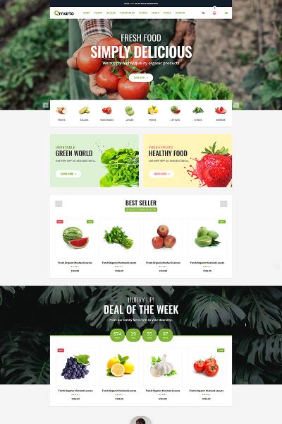 Plantilla Web para Sitio de Tienda de Alimentos #74160