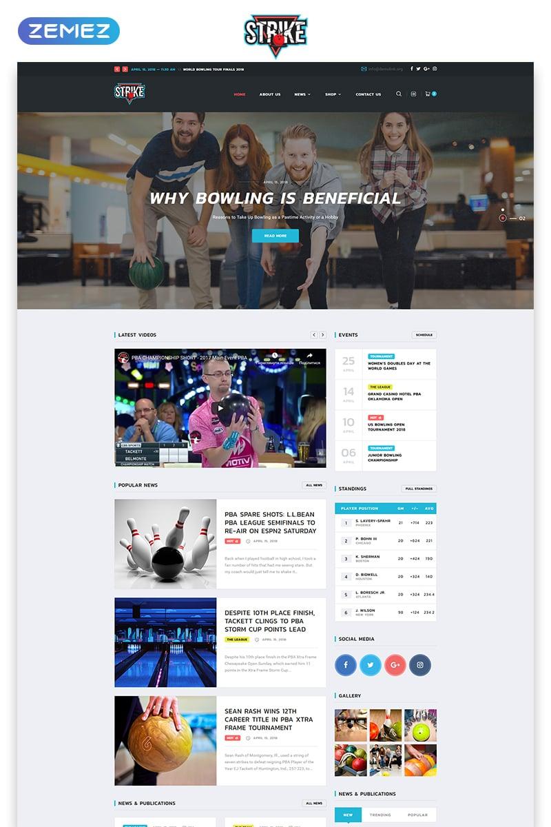 Responsive Strike - Bowling Multipage HTML Web Sitesi #74113