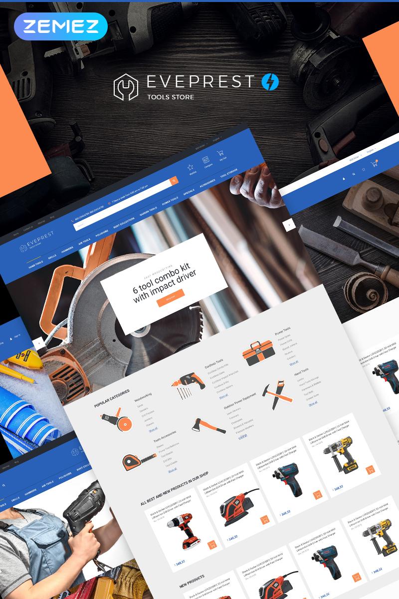 Responsywny szablon PrestaShop Eveprest Tools 1.7 - Tools Store #74195 - zrzut ekranu