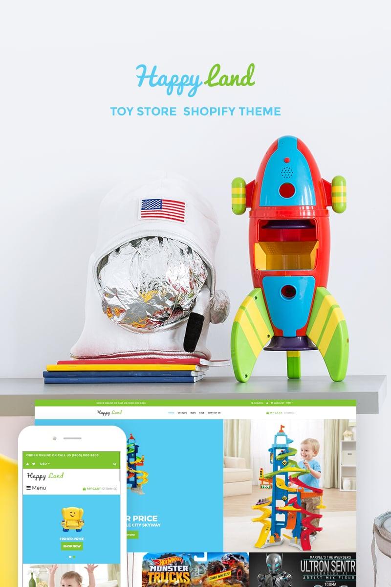 "Shopify Theme namens ""Happy Land - Toy Store"" #74125"