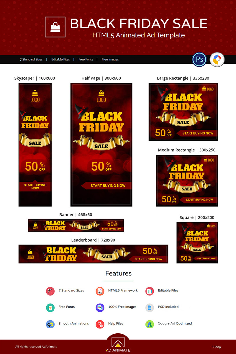 Shopping & E-commerce | Black Friday Sale Animated Banner
