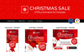 Shopping & E-commerce   Christmas Sale Ads Animated Banner