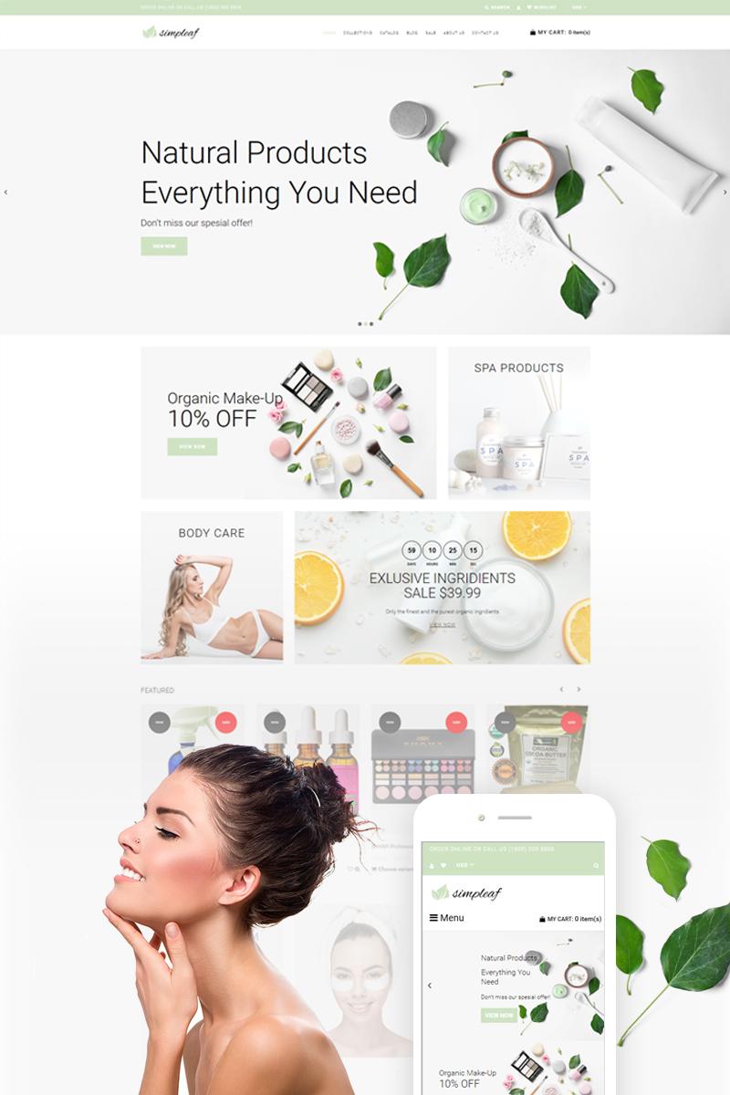 Simpleaf - Organic Cosmetics Store Shopify Theme - screenshot
