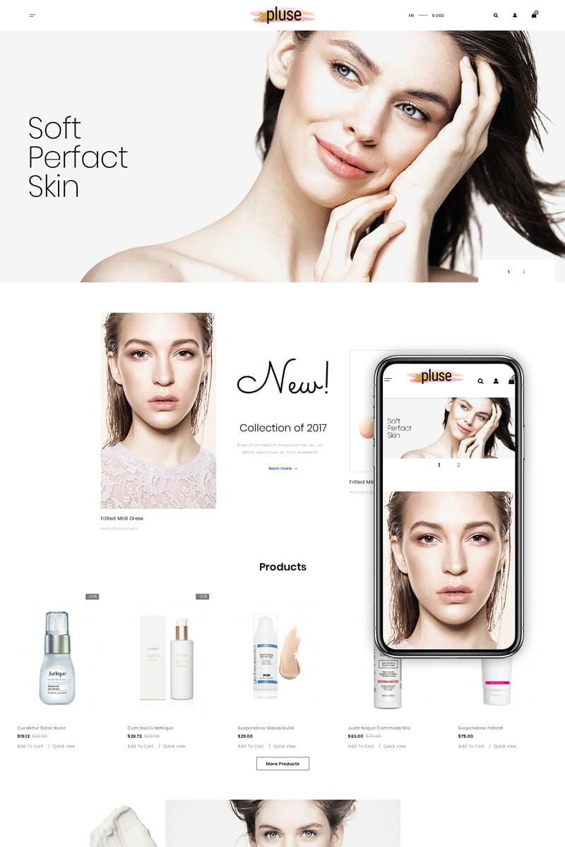 Szablon PrestaShop Pluse - Cosmetic Store #74158 - zrzut ekranu