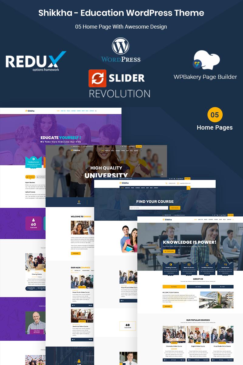 """Tema De WordPress """"Sikkha - Education & LMS"""" #74161 - captura de pantalla"""