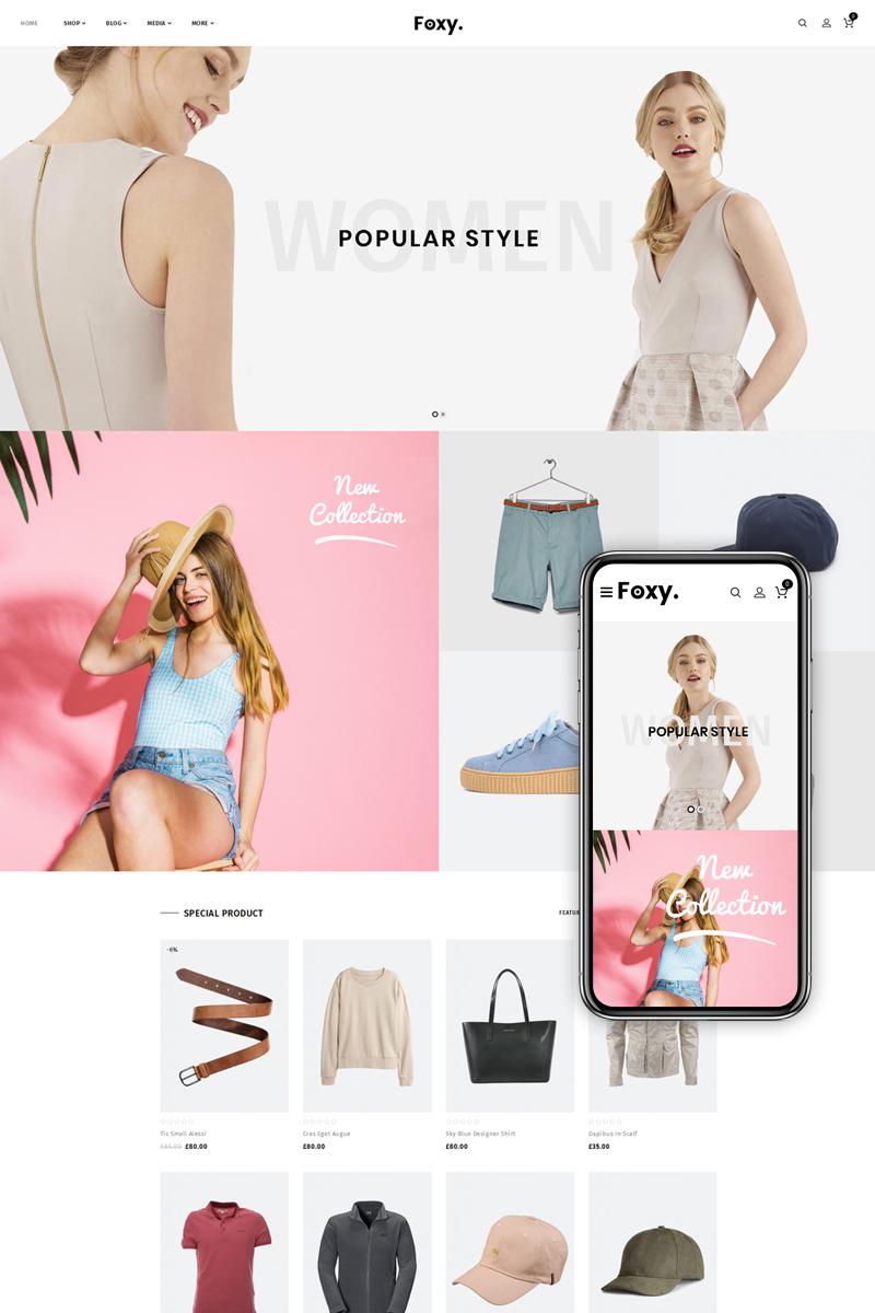"Tema WooCommerce ""Foxy - Multipurpose Shop"" #74105"