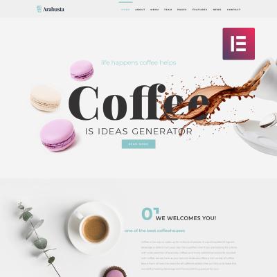 Responsives WordPress Theme für Café