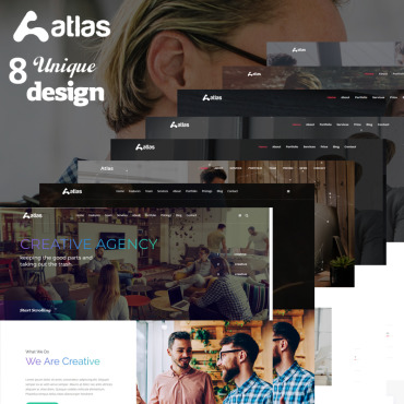 Preview image of Atlas - One Page Creative Agency HTML