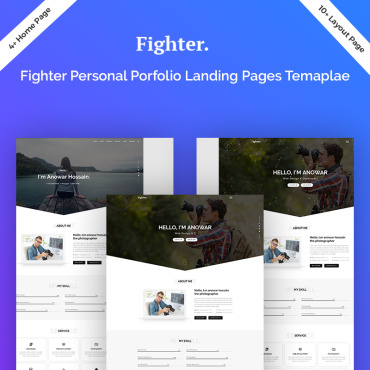 Preview image of Fighter Personal Portfolio HTML5