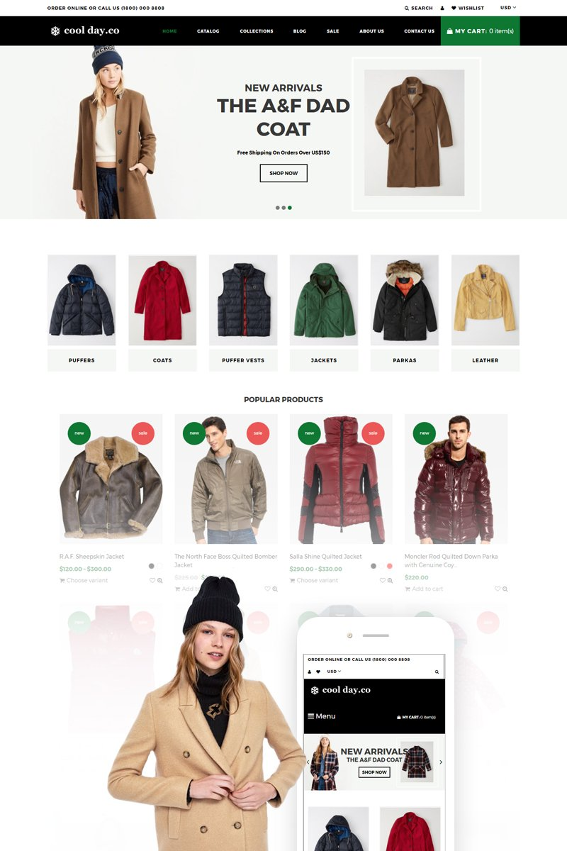 611c513e57b Website Template #74270 Clothing Ecommerce Fashion Custom Website ...