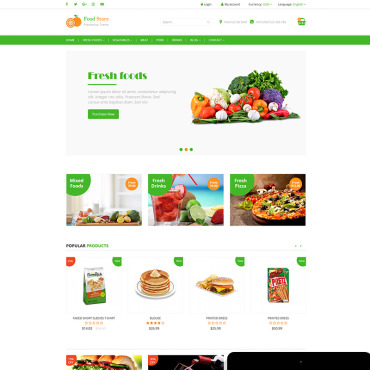 Preview image of Food Store - Food, Fruit and Vegetables store