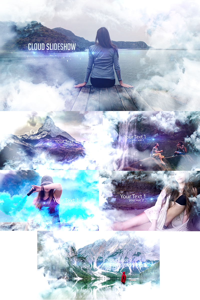 """Cloud Slideshow"" - Заставка After Effects №74226"