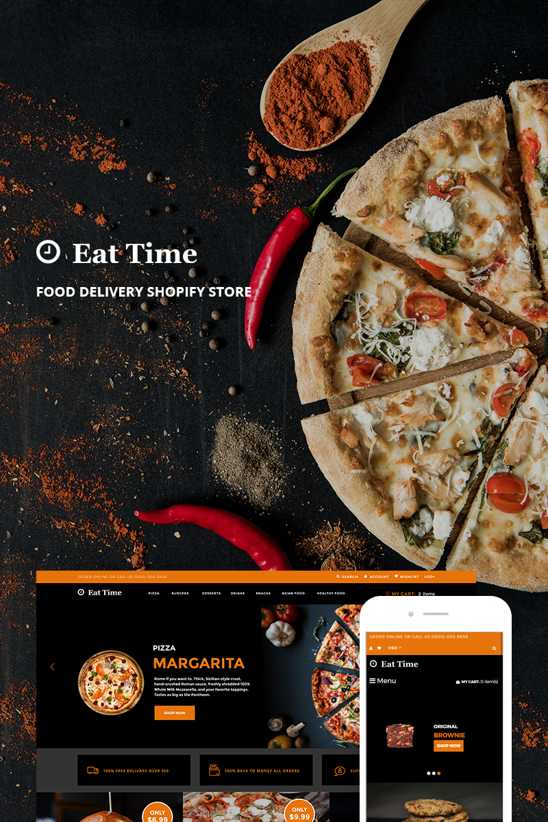 Eat Time - Food Delivery Store Shopify Theme