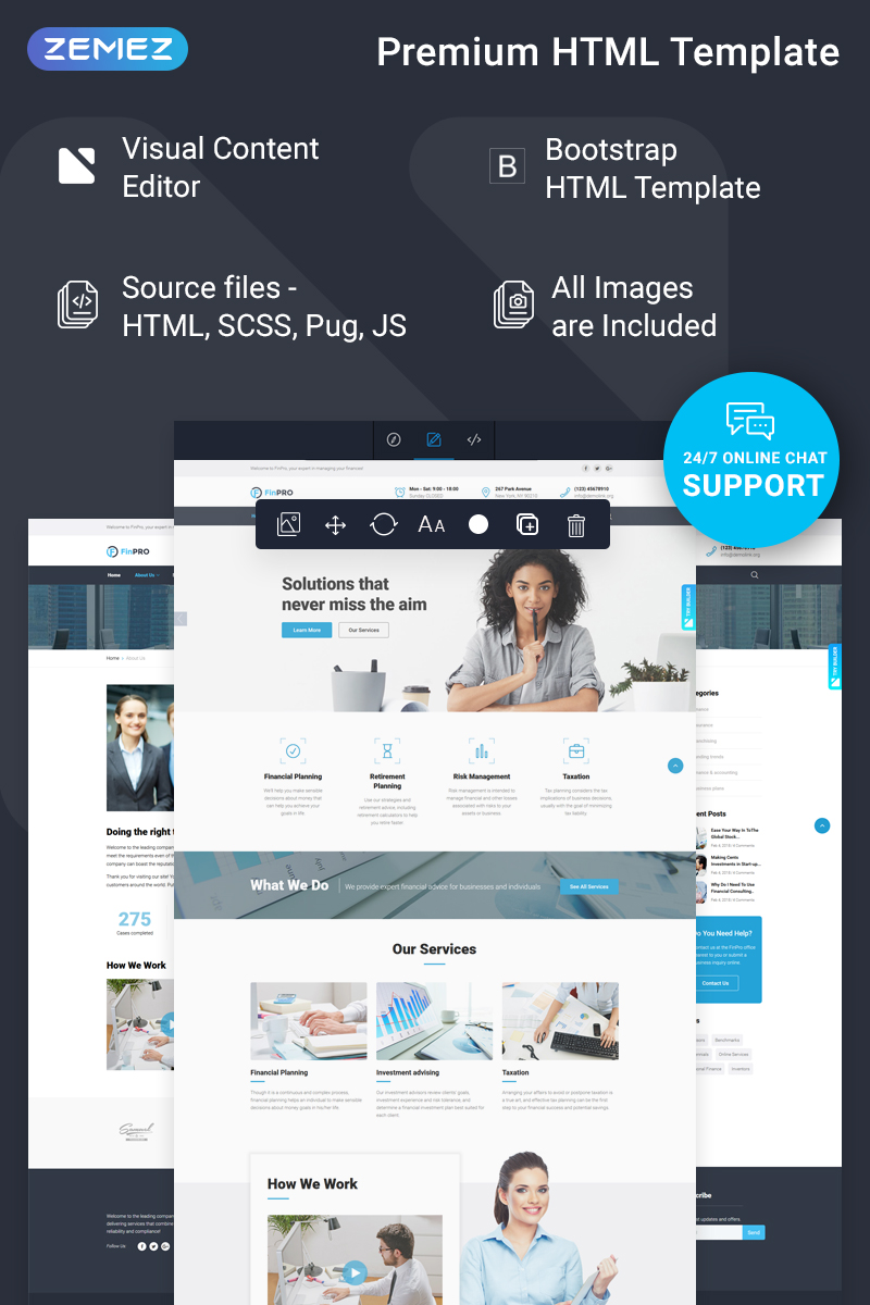 FinPRO - Financial Ready-to-Use Template Web №74259