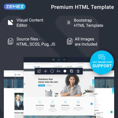FinPRO - Financial Ready-to-Use Website Template #74259
