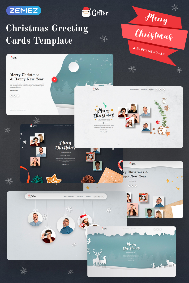 """""""Gifter - Greeting Card HTML"""" 响应式着陆页模板 #74228"""