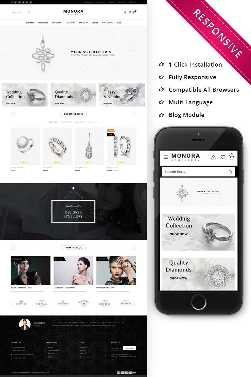"""Monora Jewellery Responsive"" - адаптивний OpenCart шаблон №74263"