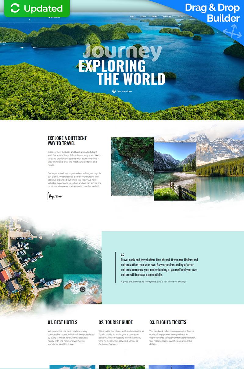 "Moto CMS 3 Template namens ""Journeo - Travel Agency"" #74258"