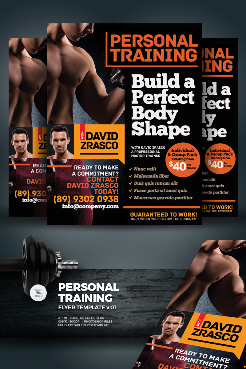 Personal Training Flyer Corporate Identity Template