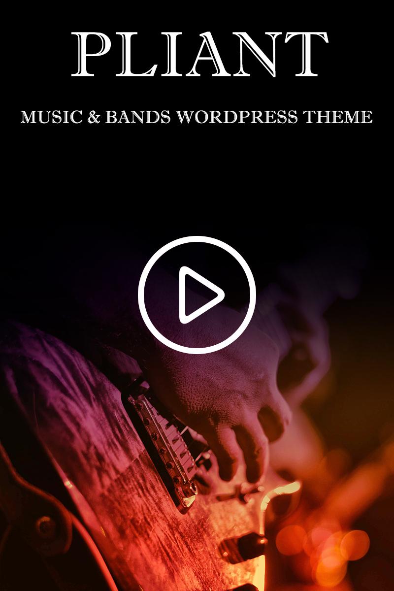 Pliant Music & Bands WordPress Theme - screenshot