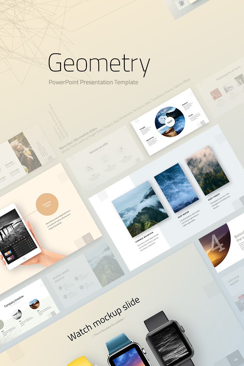 "PowerPoint šablona ""Geometry"" #74239"