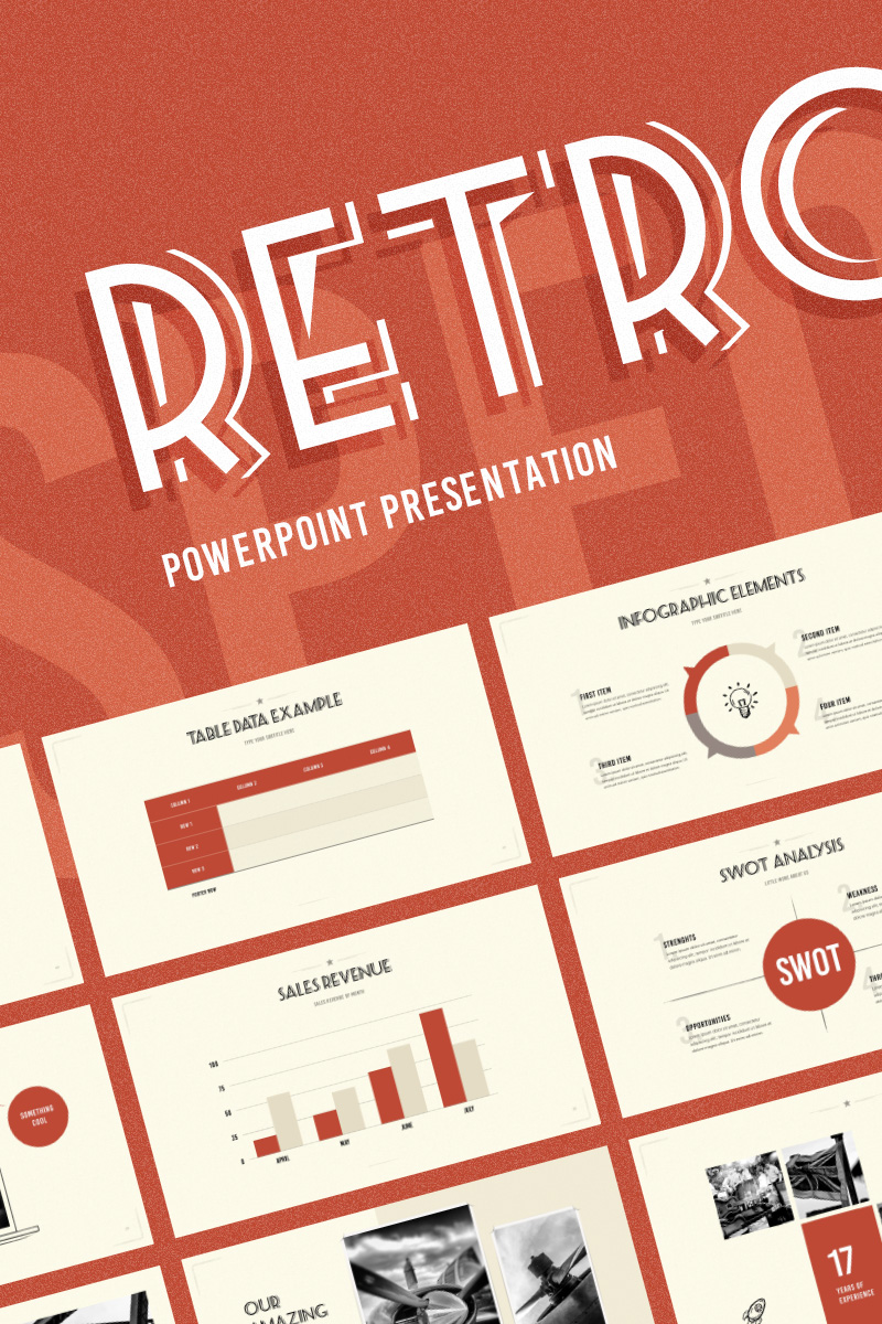 "PowerPoint Vorlage namens ""Retrospective"" #74237"