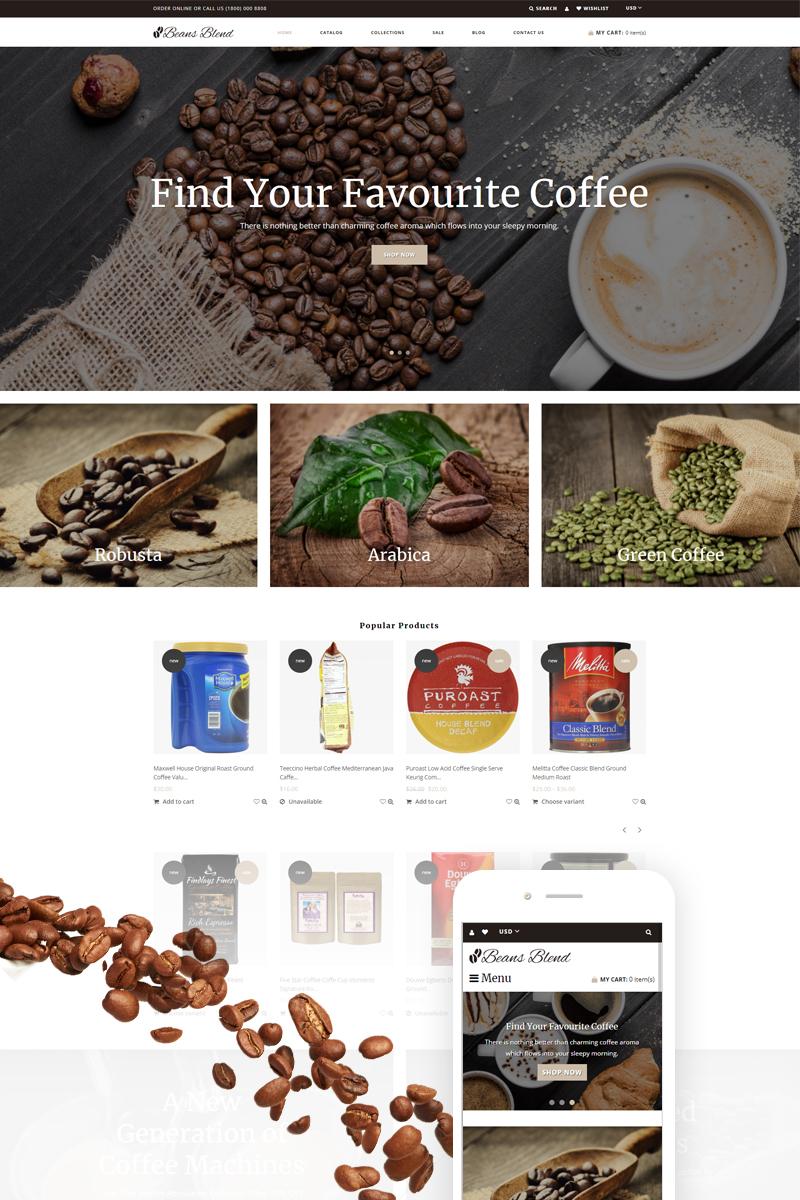 Responsive Beans Blend - Coffee Shop Shopify #74257