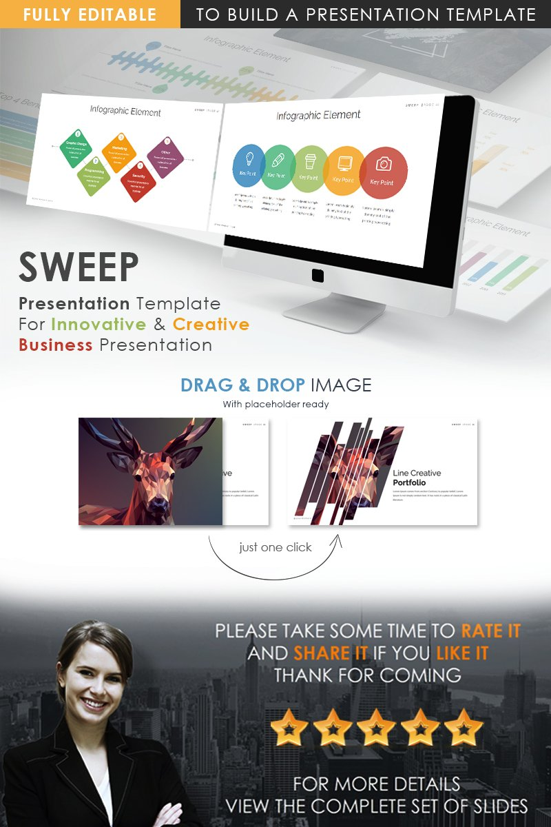 Responsywny szablon PowerPoint Sweep Presentation #74248