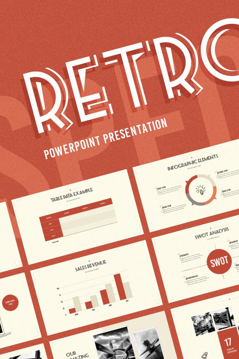 Szablon PowerPoint Retrospective #74237 - zrzut ekranu