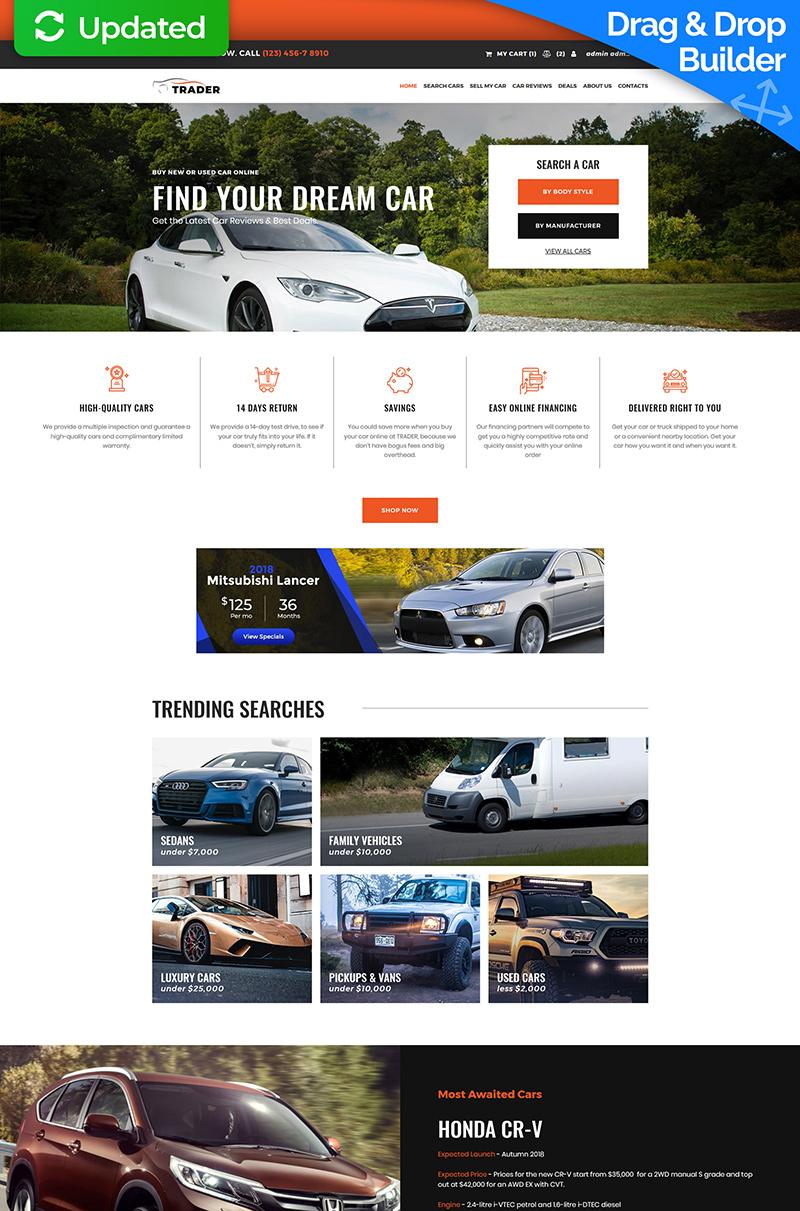 """Tema MotoCMS E-commerce Responsive #74271 """"Trader - Car Dealer"""""""