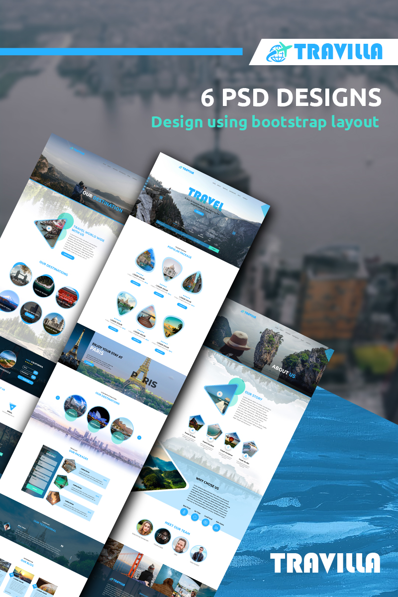Travilla - Multipurpose Tours & Travel PSD Template