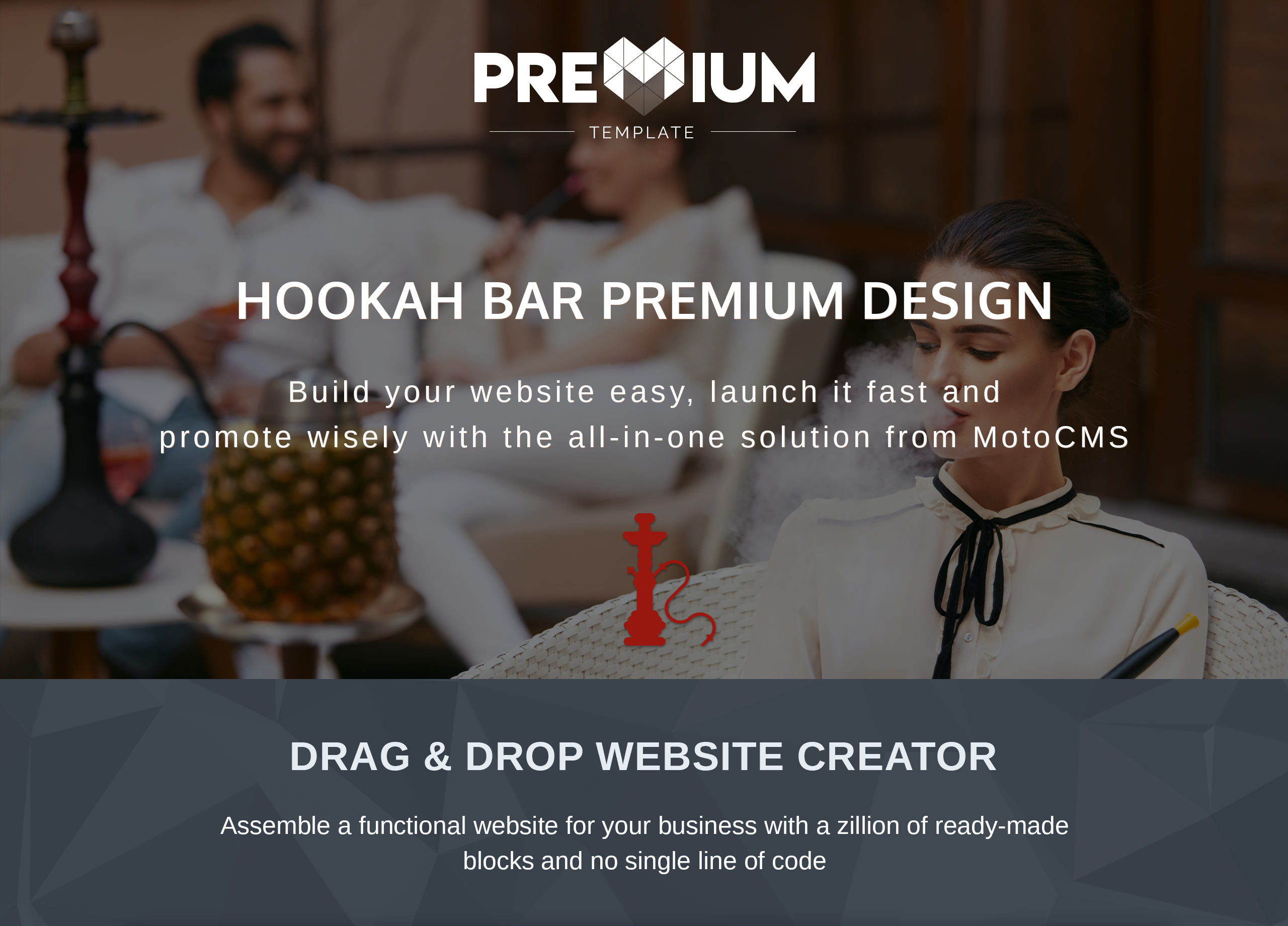 Hookah Bar & Lounge Moto CMS 3 Template