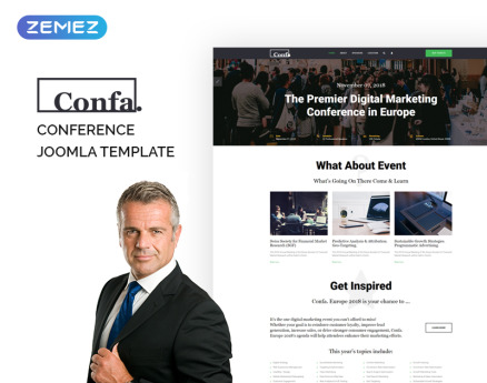 Confa - Event Joomla Template