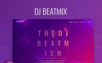 DJ Beatmix - Personal Page WordPress Elementor Theme