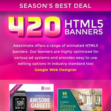 Купить  пофессиональные Animated Banners. Купить шаблон #74377 и создать сайт.