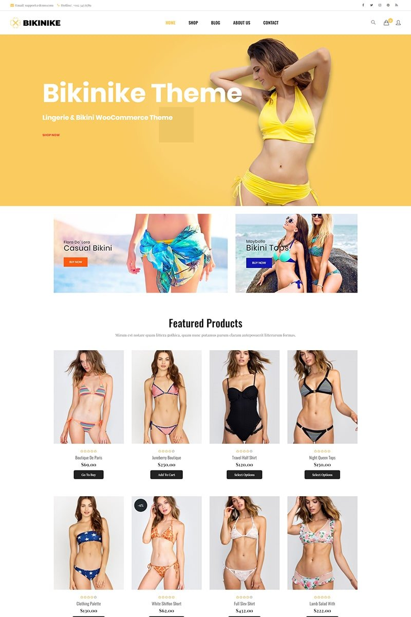 Bikinike -  Lingerie & Bikini WooCommerce Theme