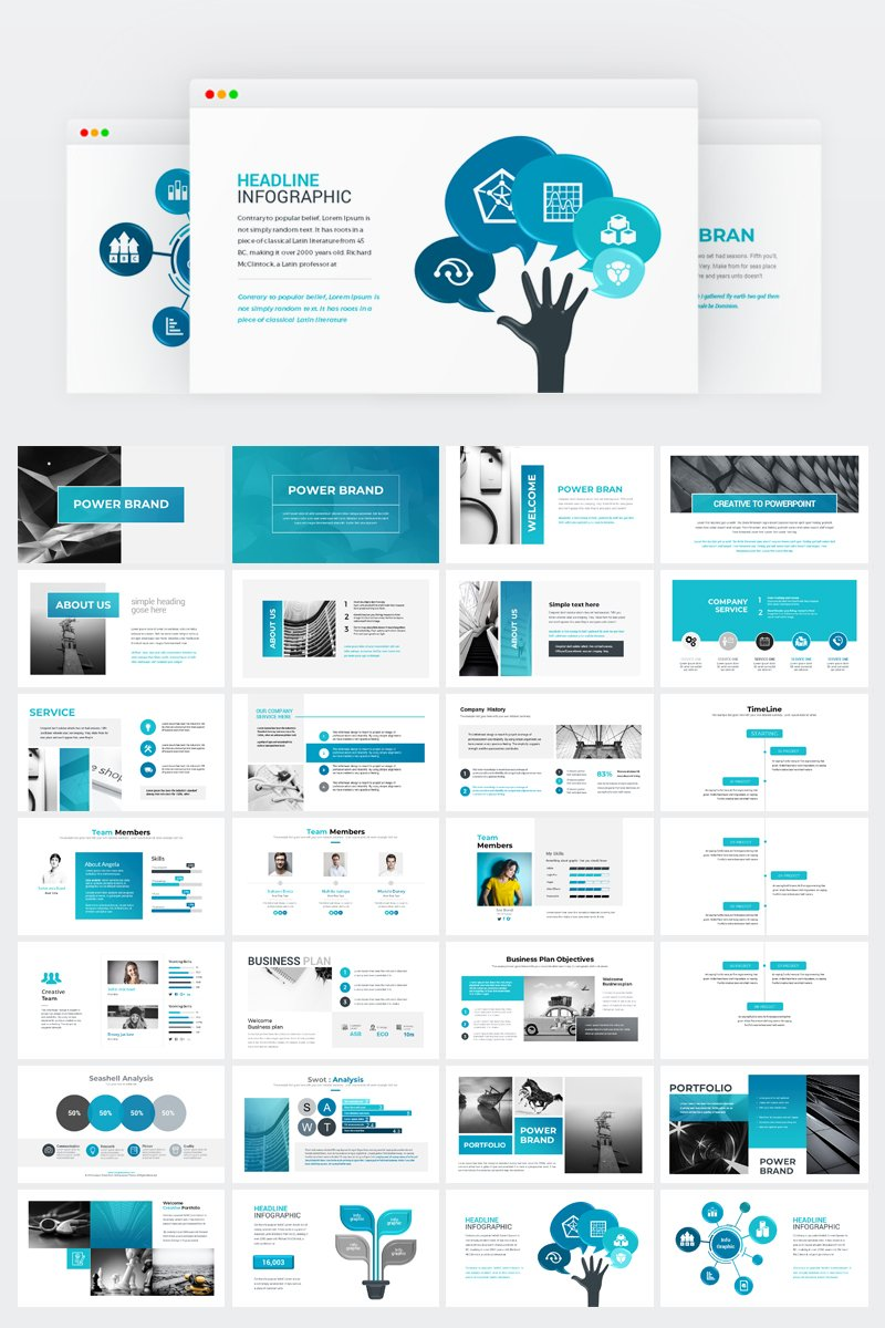 business presentation powerpoint template  74370