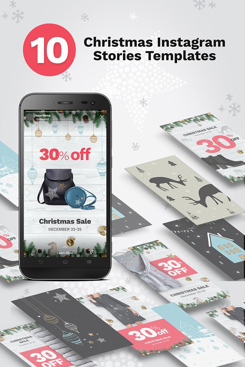 10 Christmas Instagram Stories Banners Social Media #74335 - skärmbild