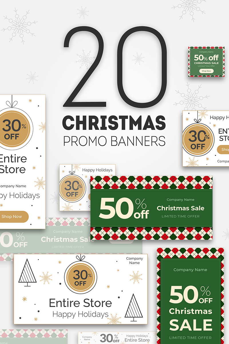 """20 Christmas Promo Banners"" Bundle #74361"
