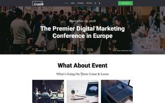 Confa - Event Joomla Template