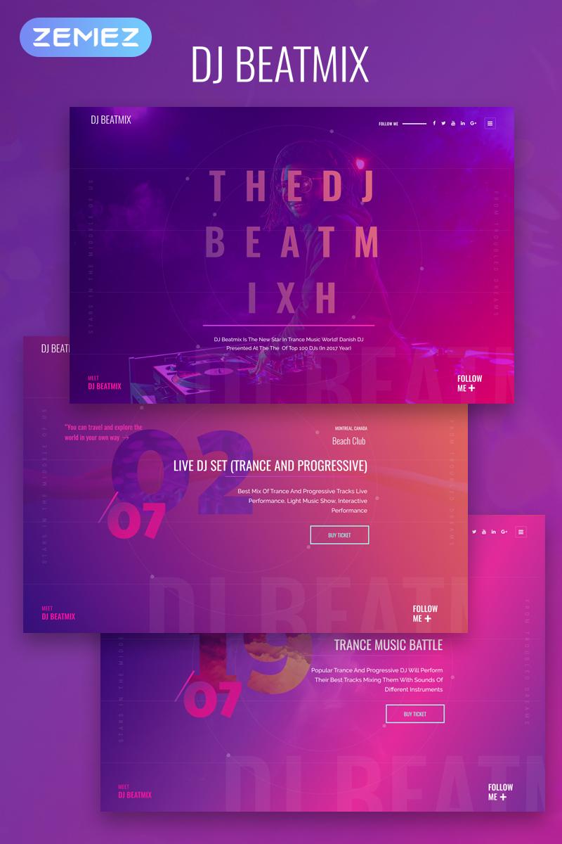 DJ Beatmix - Personal Page Elementor №74357
