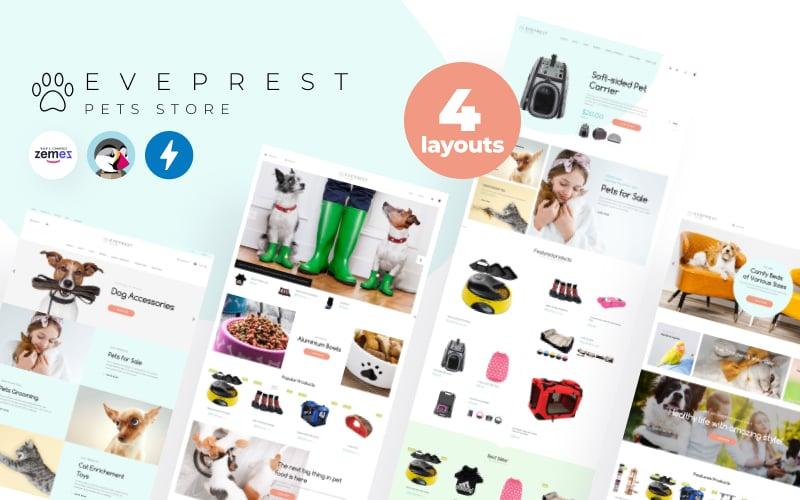 Eveprest Pets 1.7 - PrestaShop-thema voor dierenwinkel