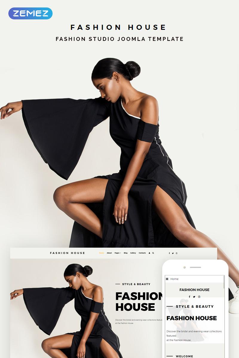 """Fashion House - Fashion"" - адаптивний Joomla шаблон №74342"