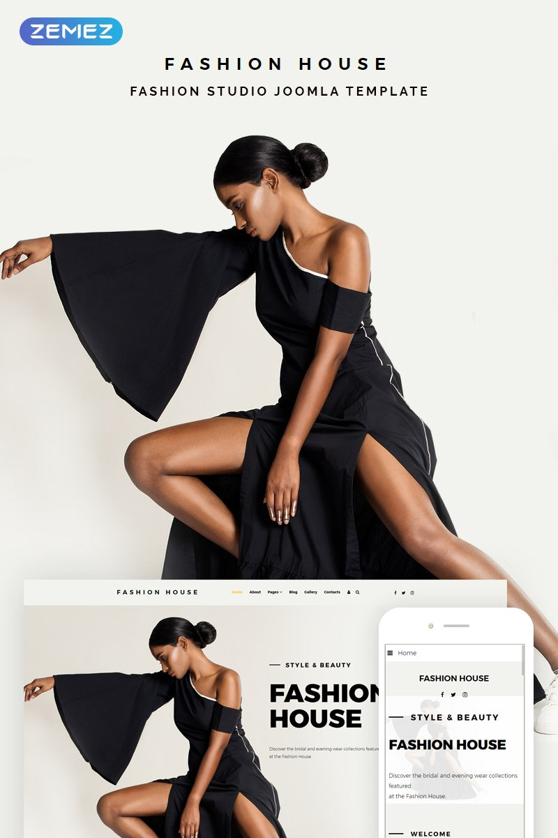 """Fashion House - Fashion"" thème Joomla adaptatif #74342"